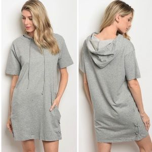 Dresses & Skirts - Grey Hoodie Dress